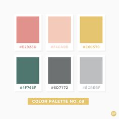 Color Palette No. 09 #color #colorscheme #colorpalette