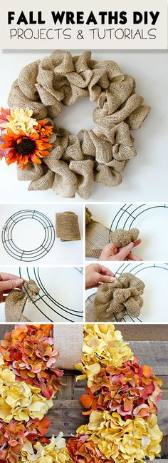 Fall Wreaths DIY • Great Projects and Tutorials!