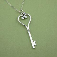 Skeleton Key Necklace. I love them