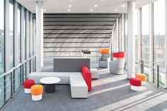 PARCS Causeway in front, PARCS Wing Chairs in the back, Chemnitz University of Technology, Germany