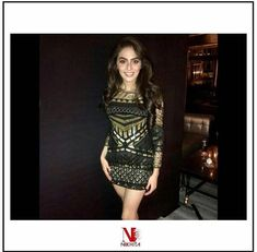 Smile from your heart; nothing is more beautiful than a woman who is happy to be herself ! simply looking in Black n Gold dress by . Western Wear, Designer Wear, Tassels, Women Wear, Bodycon Dress, Smile, Woman, Heart, Happy