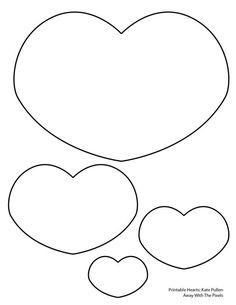 5 Free Heart Shaped Printable Templates for Your Craft Projects: Short Fat Heart Template