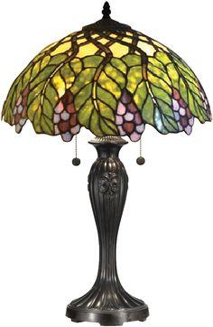 Valencia Tiffany Table Lamp Antique Bronze - LampsUSA