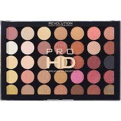 Makeup Revolution Pro HD Amplified 35 Palette Color:SocialiteSocialite - New Pic Beauty Blender Makeup Sponge, Makeup Beauty Box, Makeup Box, Makeup Dupes, Cute Makeup, Makeup Brush Set, Makeup Cosmetics, Makeup Sets, Revolution Cosmetics