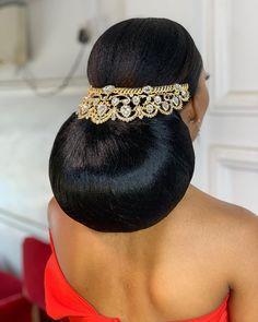 video dropping soon ! African Wedding Hairstyles, Flower Girl Hairstyles, Bun Hairstyles, Wedding Hair Inspiration, Makeup Inspiration, Hair Up Styles, Black Bride, Glam Makeup, Instagram Wedding