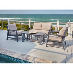11 Piece Outdoor Fire Pit Patio Dining Set Franklin Patio