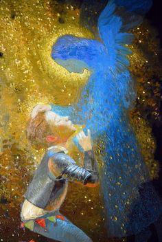 Guardian Angel by Victor Nizovtsev. Victor Nizovtsev, Holy Art, Angel Guide, Angel Pictures, Angels Among Us, Angel Art, Religious Art, Ikon, Fantasy Art
