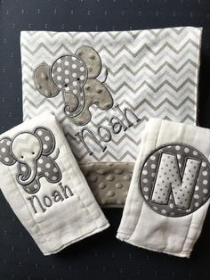 DIY your photo charms, compatible with Pandora bracelets. Make your gifts special. Make your life special! Elephant Baby Blanket Elephant Burp Cloth by HushabyeStrBoutique Baby Burp Cloths, Burp Cloth Set, Baby Bibs, Burp Cloth Diapers, Elephant Baby Blanket, Elephant Applique, Elephant Baby Clothes, Elephant Nursery, Best Baby Blankets