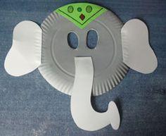 Máscara de elefante indio. Un disfraz para los niños