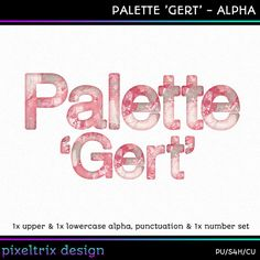 Digital Alphabet PALETTE GERT Instant Download by PixeltrixDesign