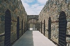 """Yuma, AZ- the """"old prison""""........spooky........ when the prison first opened, it is known the prisoners had to carve out their own cells!"""
