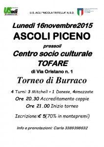 Ascoli Piceno torneo di burraco al Centro socio culturale Tofare