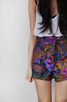 Bright colors and fun prints.