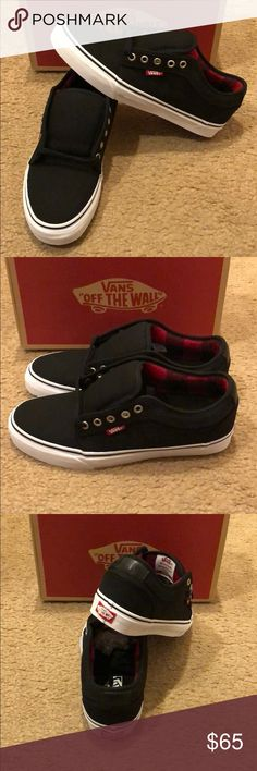 0315c1c7e3 Flannel Chukka Low Vans New in box. Black chili pepper Vans Shoes Sneakers  Vans