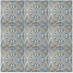 "Found it at Wayfair - EliteTile Royalty Flatlands 17.75"" x 17.75"" Ceramic Glazed Tile in Multicolor"