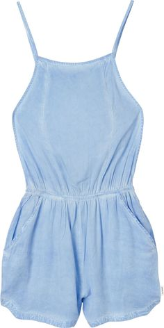 Chaser Swim Cover-Up Romper in Sky Blue | RVCA