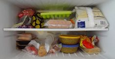 While frozen foods stay safe for consumption almost indefinitely, this does not mean their quality remains the same. If you are also concerned about the quality Roll Out Shelves, Freezer Organization, Daily Health Tips, Different Recipes, Plastic Laundry Basket, Food Hacks, Food Tips, Kitchen Hacks, Food Storage