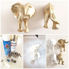 Adorable and Fun Elephant Fridge Magnets (Do something simillar to put on a frame!)