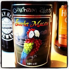 Oakham Ales Scarlet Macaw Beer - 4.8% ABV - gooseberries and fruit to taste before an intense bitterness that's real sharp - Yakima and Amarillo Hops