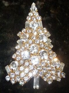 Eisenberg Ice Brilliant Clear Christmas Tree Pin