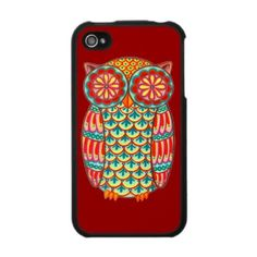 Owl iPhone 4 Case from http://www.zazzle.com/funky+iphone4+cases
