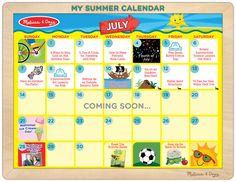 Summer Fun Calendar Ideas for July from Melissa and Doug