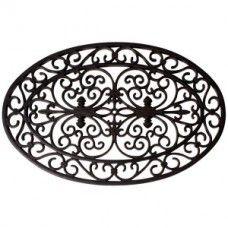 Deze deurmat is gemaakt van rubber, met een ornament karakter wat in reliëf over elkaar heen ligt, dit maakt dat het vuil effectief wordt verwijderd tijdens het voeten vegen. De rubberen mat is uitgevoerd in zwart. Afmeting: (L x B x H) : 70 x 40 x 1,5 cm