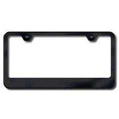 Nissan Xterra Laser Etched Frame   Black Black Gloss License Plate Frame
