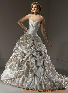 ziemlich Modische Caught up-Kleid mit Schatzausschnitt Brautkleider