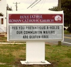 funny, funny pictures, funny photos, religion, easter, funny signs, hilarious, 10 Hilarious Honest Church Signs for Easter