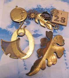 Mystery Charm Grab Bag Raw Brass I28 by dimestoreemporium on Etsy, $3.00