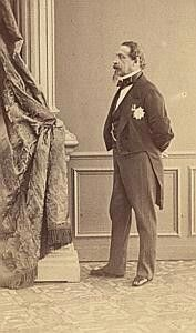 Portrait of Napoléon III - Profile. 1860s