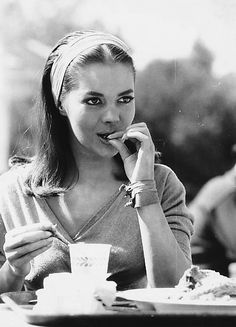 """woodnnatalie: """" Natalie Wood during her lunch break on the set of The Burning Hills, 1956. """""""