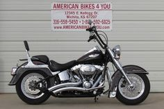 "$11,995 with 10,014 miles  This 2008 Softail Deluxe comes with Vance & Hines exhaust, K & N air filter, flame timing cover, flame air cleaner insert, flame derby cover, 12"" ape-hangers with internal wiring, front & rear floating brake rotors and a custom front fender skirt.  http://www.americanbikes4you.com/vehicle/4919820/2008-harley-davidson-softail-deluxe-flstn-wichita-kansas-67207"