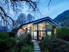 Lake Como Villa by Studio Marco Piva. The architects have completely renovated this square foot home located along Lake Como in Lombardy, Italy. Lake Como Villas, Architecture Design, Comer See, Mountain House Plans, Mountain Homes, Mountain Cabins, Modern Mansion, Beautiful Villas, Exterior Design