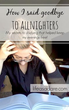 All-nighters are exhausting and so stressful if you get behind in your schoolwork! Here's how one blogger said good-bye to all-nighters for good, and how you can, too!