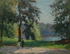 Lodewijk 'Louis' Soonius (Den Haag 1883-1956 ) In het park - Kunsthandel Simonis en Buunk, Ede (Nederland).