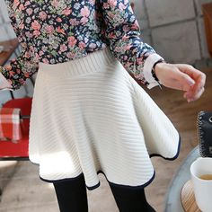 [Miamasvin] Knitted Full Skirt