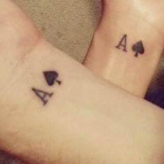Nathan and I got matching Ace of Spades tattoos (on my 30th Birthday)!