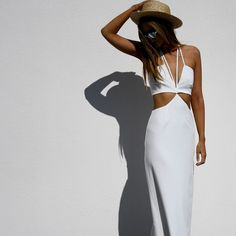 094a4c019a0 Weekends with our babe  lydianna in the Swift Cutout Maxi available now at   SaboSkirt