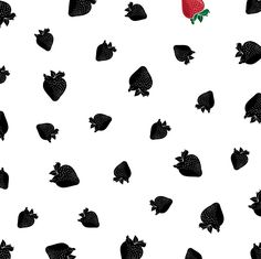 Andrew Jurado / Tasty fruit pattern design - Strawberries Instagram