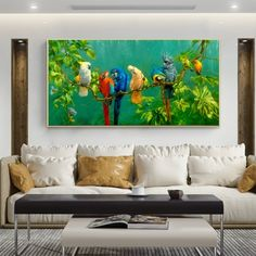 """Modern Colorful Parrots Animal Canvas Painting Landscape Wall Art Prints For Living Room Modern Decorative Prints Posters"" Colorful Parrots, Canvas Painting Landscape, Geometric Wall Art, Wall Art Pictures, Living Room Modern, Poster Prints, Posters, Animal Paintings, Canvas Art Prints"