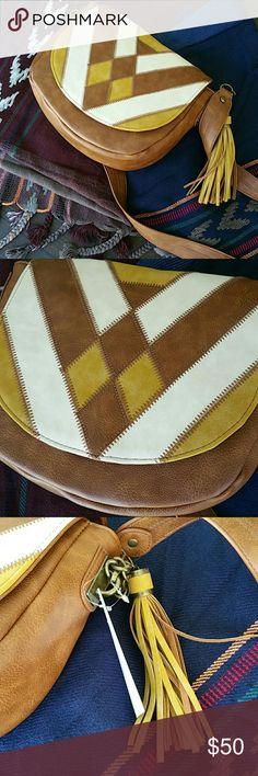 Spotted while shopping on Poshmark: Brown medium Steve Madden crossbody saddle bag! #poshmark #fashion #shopping #style #Steve Madden  #Handbags