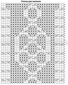 Шапка и митенки Бриджит - Схема 3