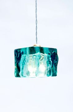 Turquoise Cube light fixture by Aya and John  #INLIGHT on Etsy.com/shop/ayaandjohn