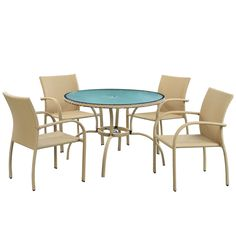 Shop for Circulo Outdoor Wicker Patio Dining Table/ Flaxen Chair Set. Get free delivery On EVERYTHING* Overstock - Your Online Garden & Patio Shop! Sectional Furniture, Patio Furniture Sets, Wicker Furniture, Outdoor Furniture, Dinette Sets, 5 Piece Dining Set, Dining Sets, Tear, Contemporary Furniture