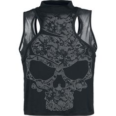 Lace Skull - Girls Top by Alchemy England - Article Number: 292337 - from 32.99 € • EMP