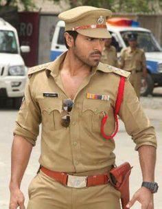 Ramcharan in police uniform