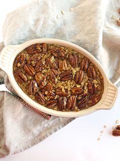 Pecan Pie Baked Oatmeal | Community Post: 19 Oatmeal Recipes To Celebrate National Oatmeal Day