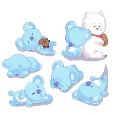 Always in dreamland far far away from this worldSweet dreams my little Koya - This is not my photoCredits to the maker of the picture of Koya RJ and Shooky - Namjin, Bts Memes, Les Bts, Bts Drawings, Bts Chibi, Line Friends, Bts Fans, Kpop Fanart, Bts Group